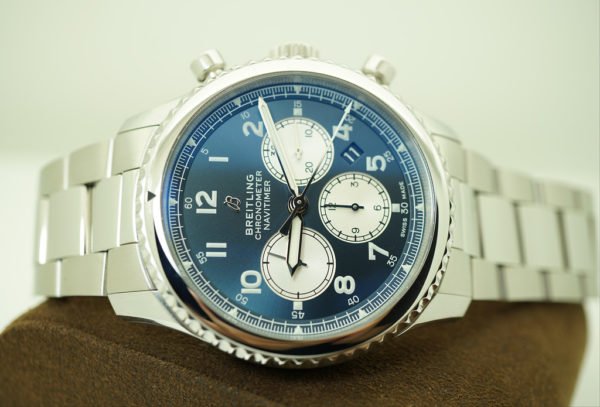 Breitling NAVITIMER 8 B01 CHRONOGRAPH AUTOMATIC BLUE DIAL 43MM WARRANTY FULL SET